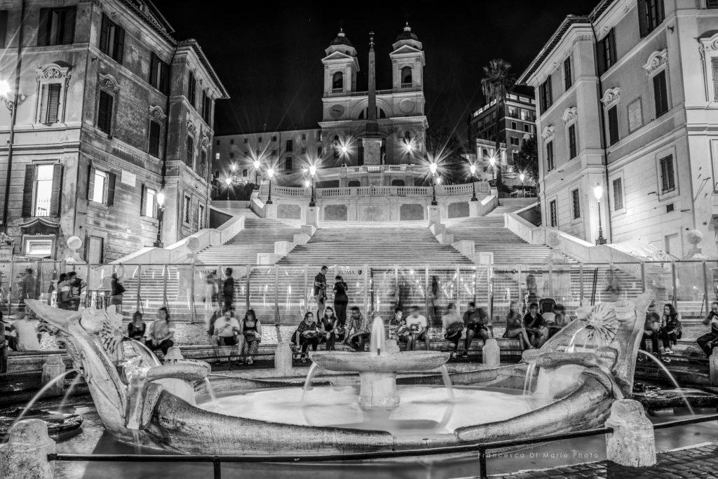 fotografia paesaggio Roma piazza di spagna