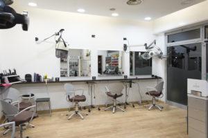 fotografia interni salone parrucchiere